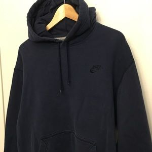 Men's Nike Swoosh Embroidered Blue Hoodie Size L